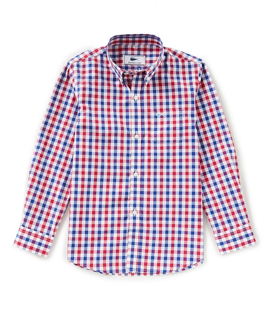 Southern Lure Big Boys 8-20 Plaid Button-Down Shirt