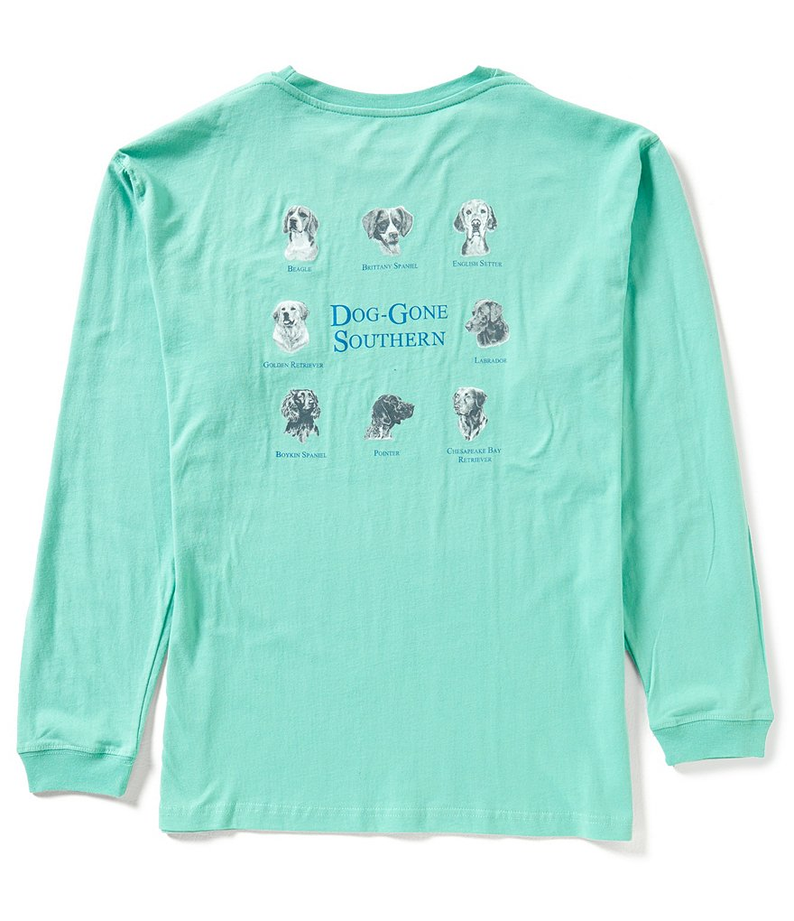 Southern Lure Dog-Gone Southern Graphic Long-Sleeve Pocket Tee