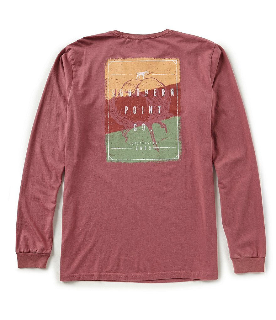 Southern Point Cotton Long-Sleeve Graphic T-Shirt
