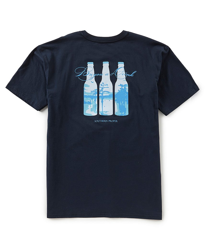 Southern Proper Bayou Drink Short-Sleeve Pocket T-Shirt