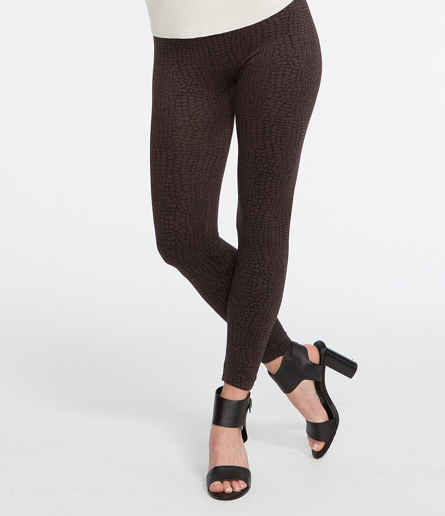 Spanx Plus Crocodile-Print Seamless Leggings
