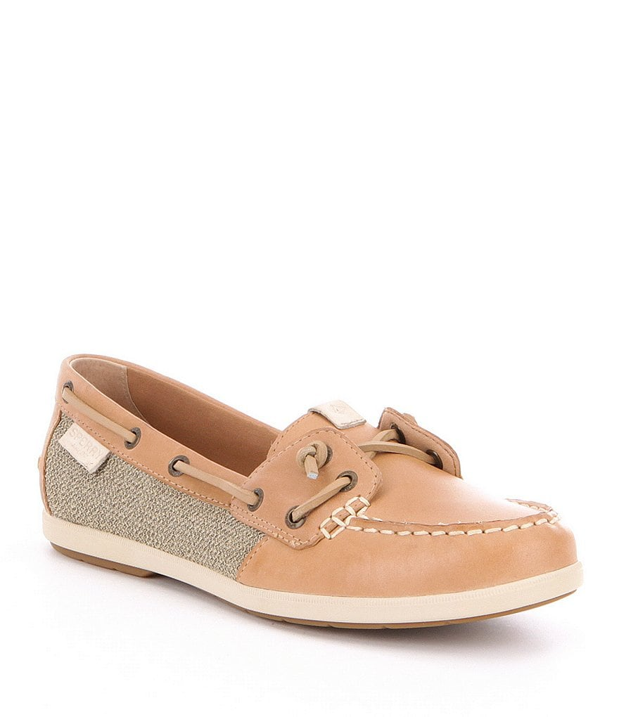 Sperry Coil Ivy Leather & Textile Slip-On Boat Shoes