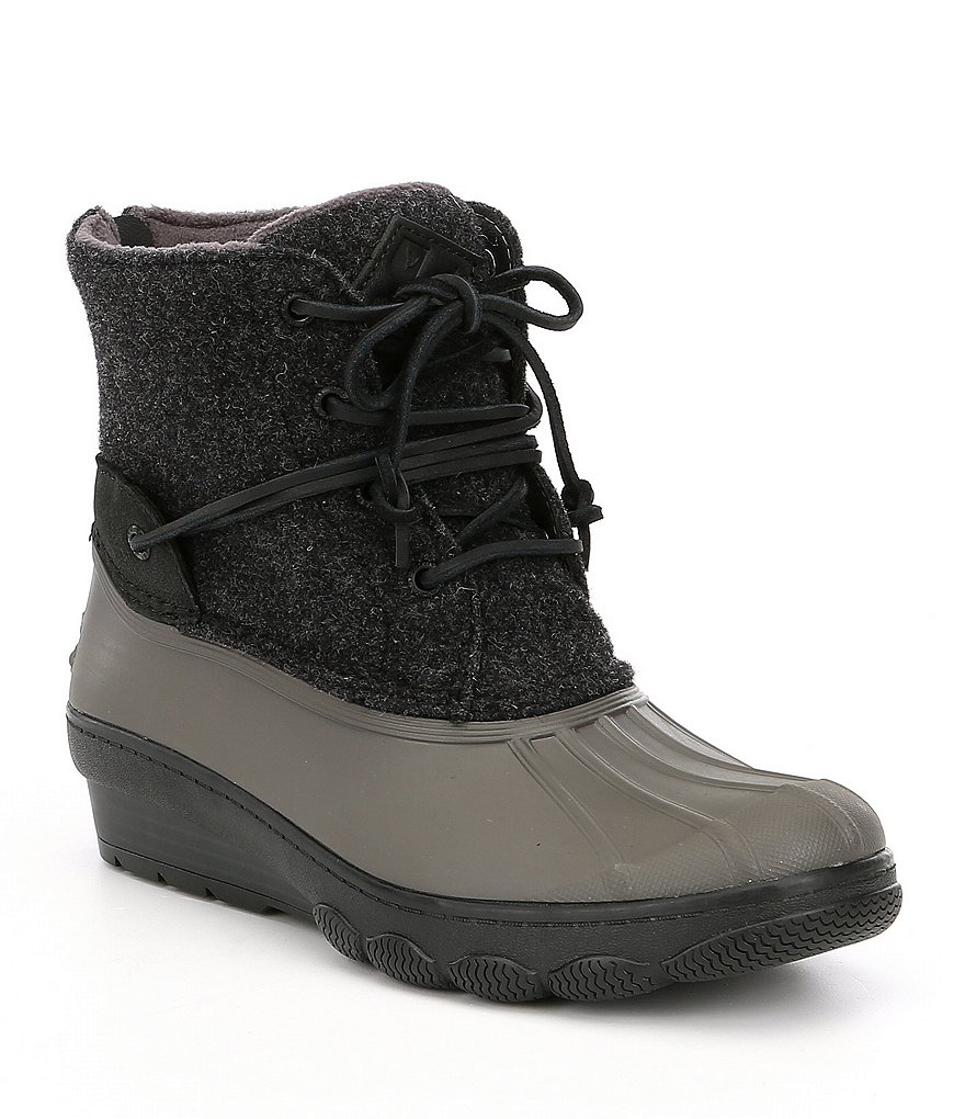 Sperry Saltwater Wedge Tide Wool Cold Weather Duck Boots