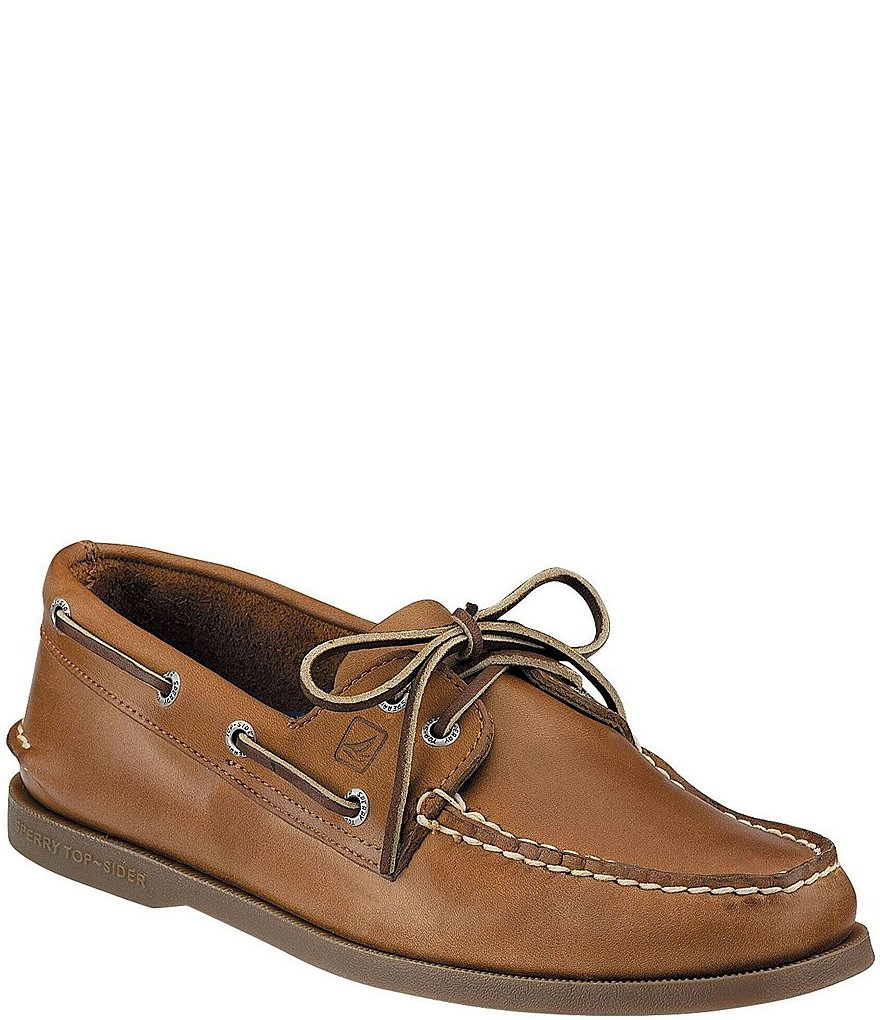 Classic Sperry Men's Gold A/O 2 Eye Nubuck Boat Shoes Men Tan