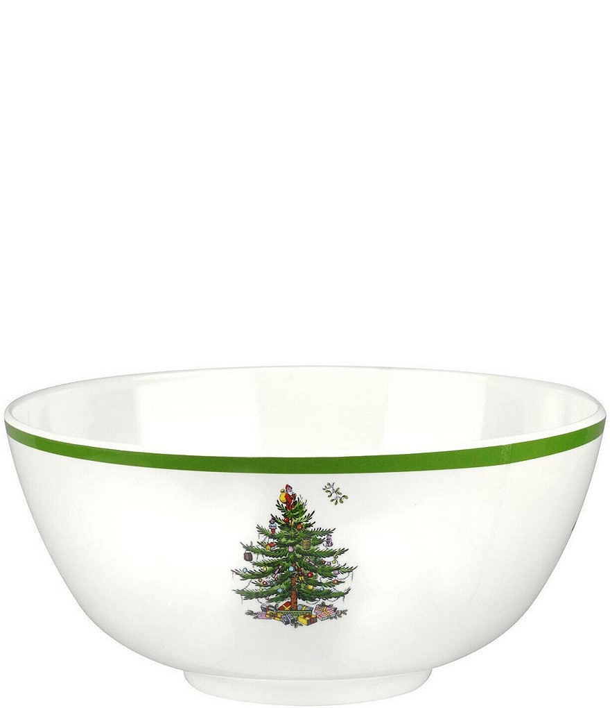 spode christmas tree melamine deep serving bowl