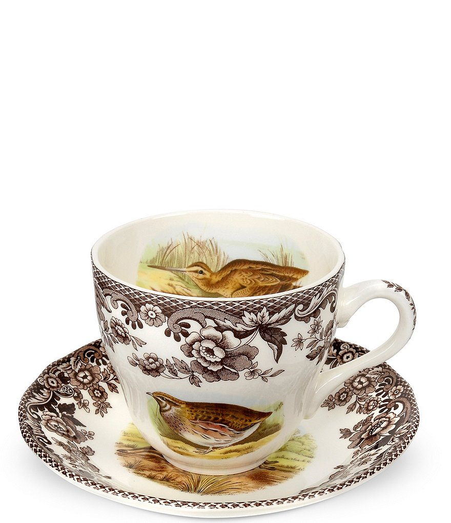 Spode Festive Fall Collection Woodland Teacup and Saucer