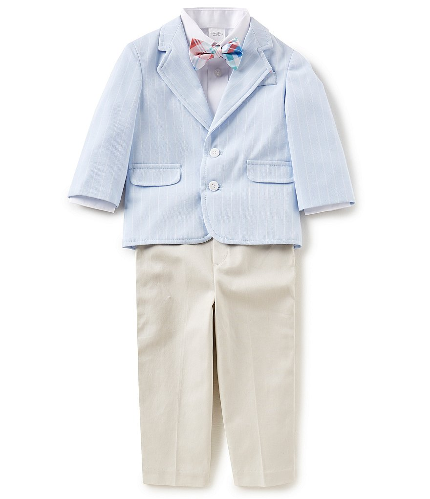Starting Out Baby Boys 12-24 Months Blazer Jacket, Button-Front Shirt, Bow Tie & Pants 4-Piece Set