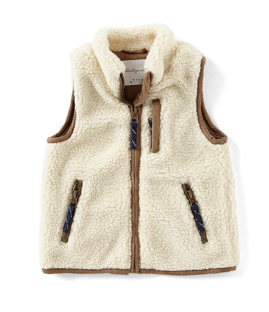 Starting Out Baby Boys 12-24 Months Faux Sherpa Vest