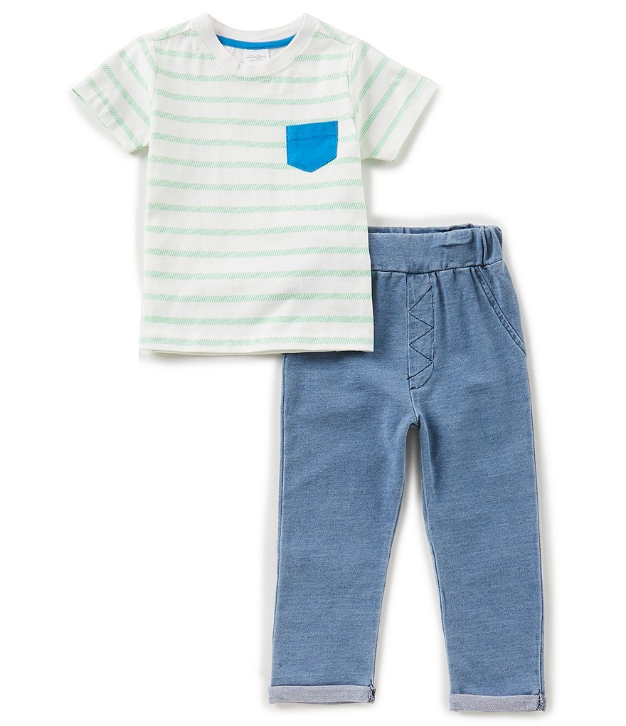 Starting Out Baby Boys 12-24 Months Striped Pocket Tee & Pants Set