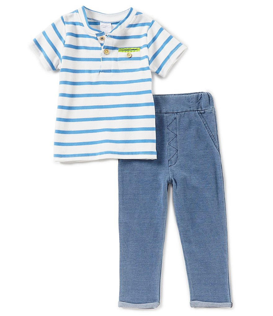 Starting Out Baby Boys 12-24 Months Striped Short-Sleeve Top & Pants Set