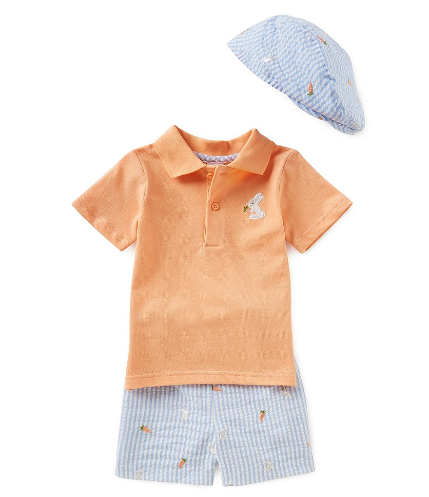 Starting Out Baby Boys 12 Months - 24 Months Bunny Polo Set