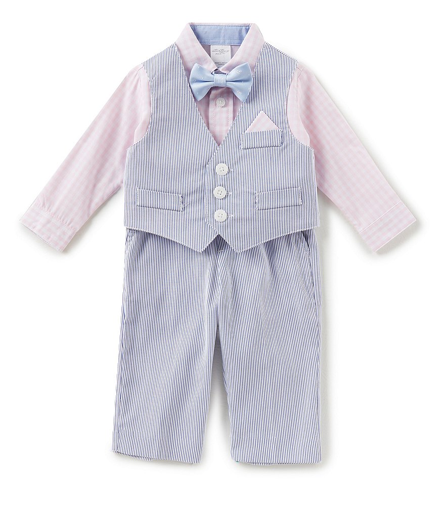 Starting Out Baby Boys 3-24 Months Button-Down Shirt, Pincord Striped Vest, & Pants 3-Piece Set