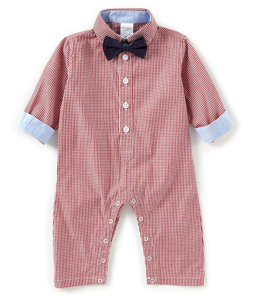 Starting Out Baby Boys 3-9 Months Long Sleeve Gingham Coverall