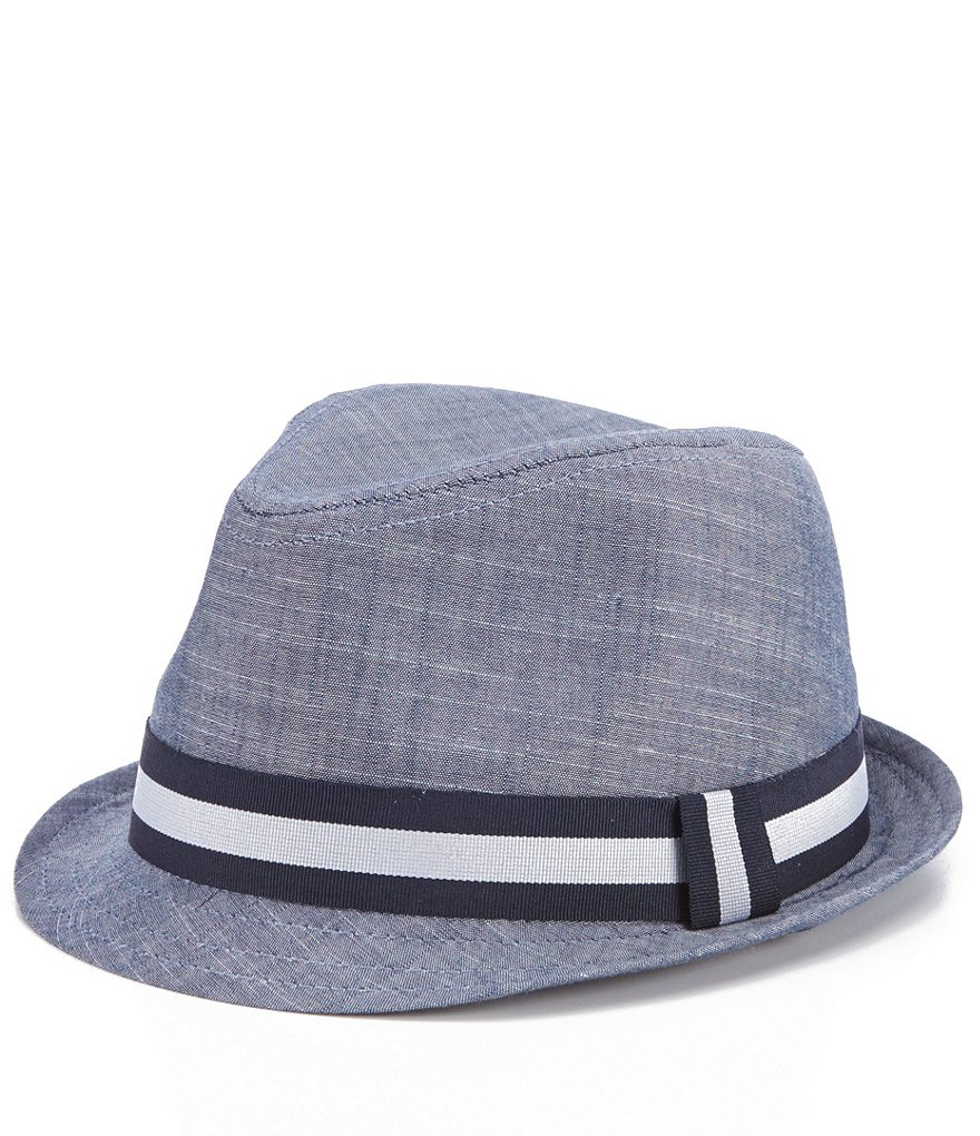 Starting Out Baby Boys Chambray Fedora Hat
