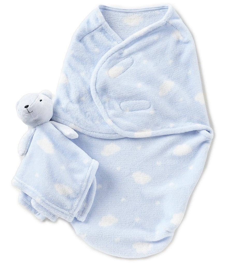 Starting Out Baby Boys Cloud Blanket & Blanket Buddy Set