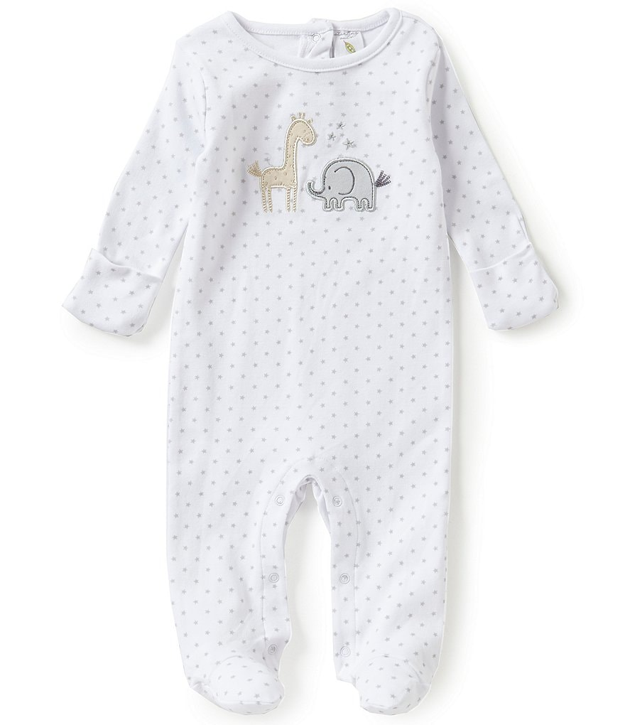 Starting Out Baby Boys Newborn-6 Months Animal-Appliqué Star Print Footed Coverall