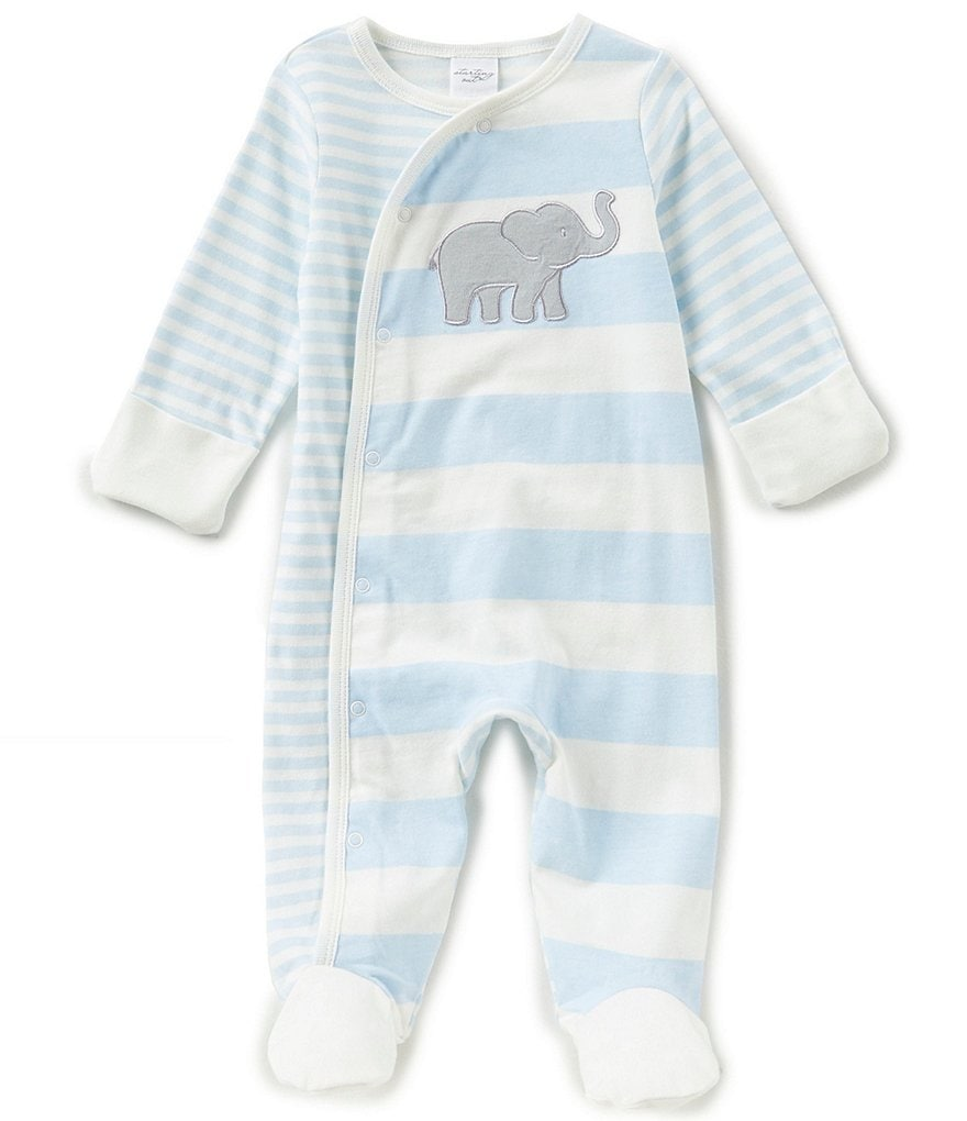 Starting Out Baby Boys Newborn-6 Months Elephant-Applique Footed Coverall