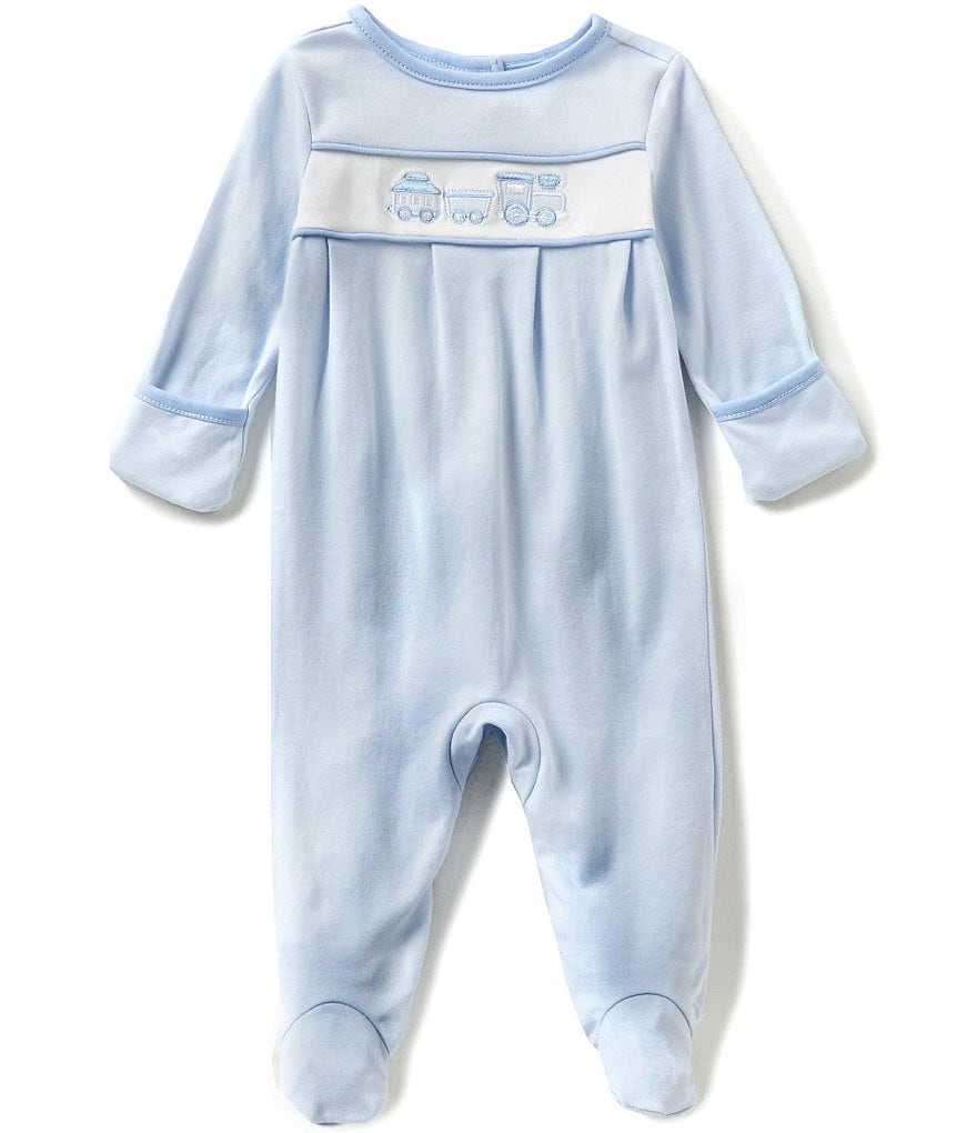 Edgehill Collection Baby Boys Newborn-6 Months Train Embroidered Coverall