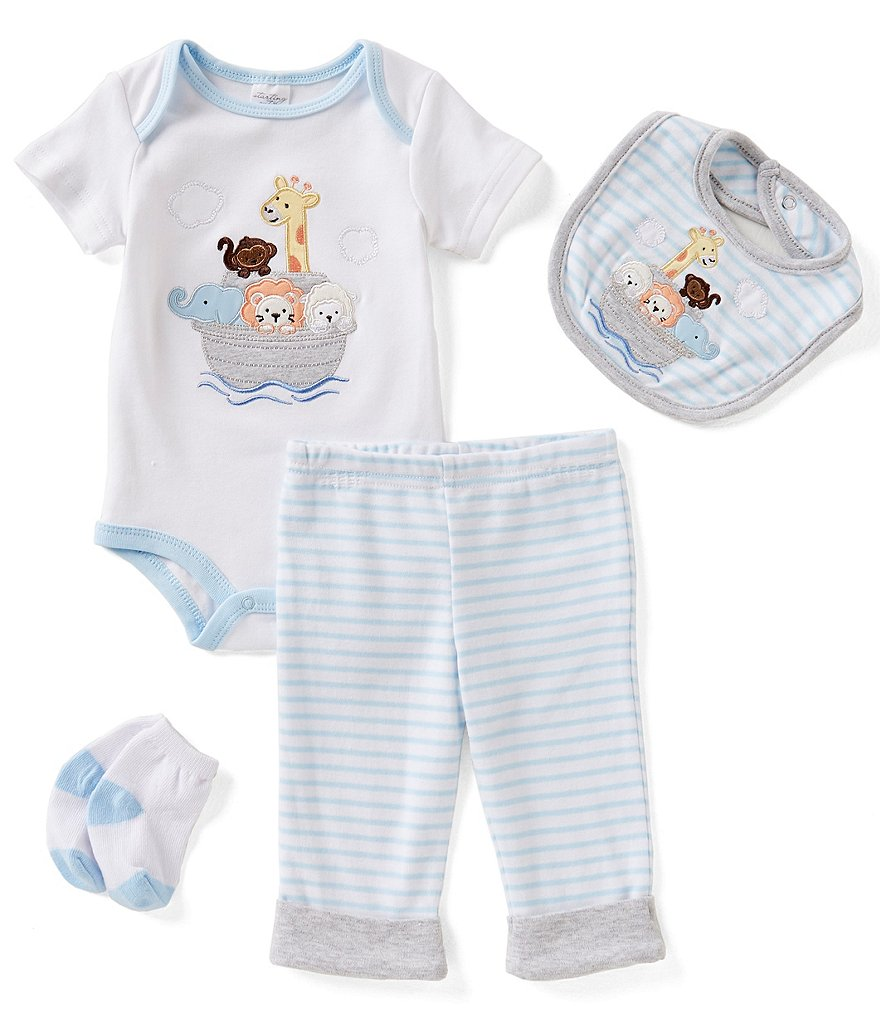 Starting Out Baby Boys Newborn-9 Months Animal Ark 4-Piece Layette Set