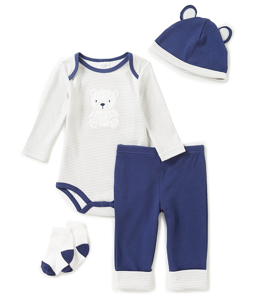 Starting Out Baby Boys Newborn-9 Months Polar Bear 4-Piece Layette Set