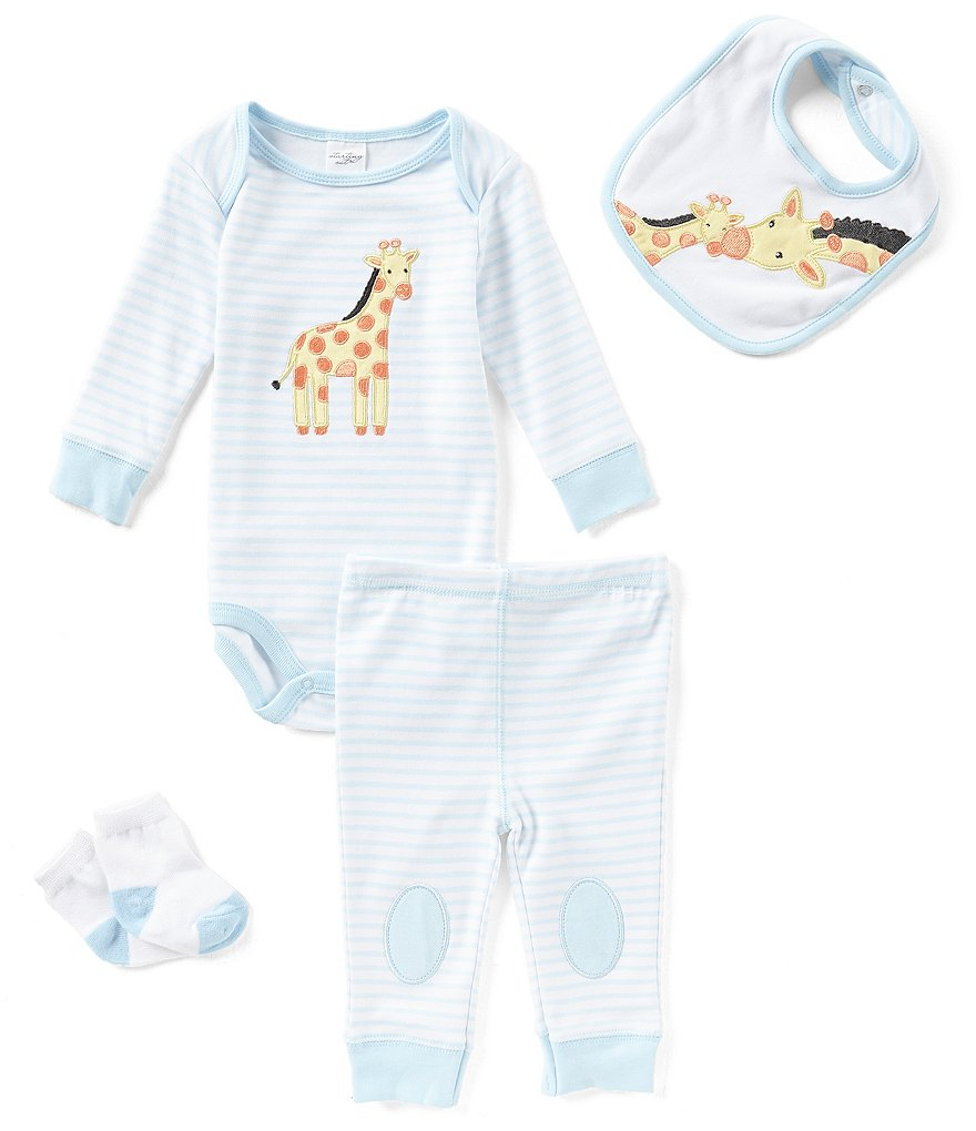 Starting Out Baby Boys Newborn-9 Months Striped Giraffe-Applique 4-Piece Layette Set