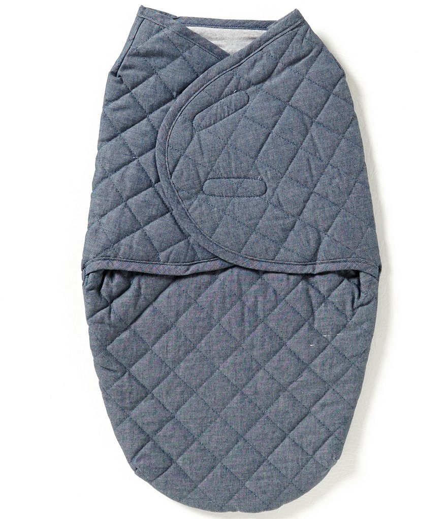 Starting Out Baby Boys Quilted Denim Swaddle Blanket