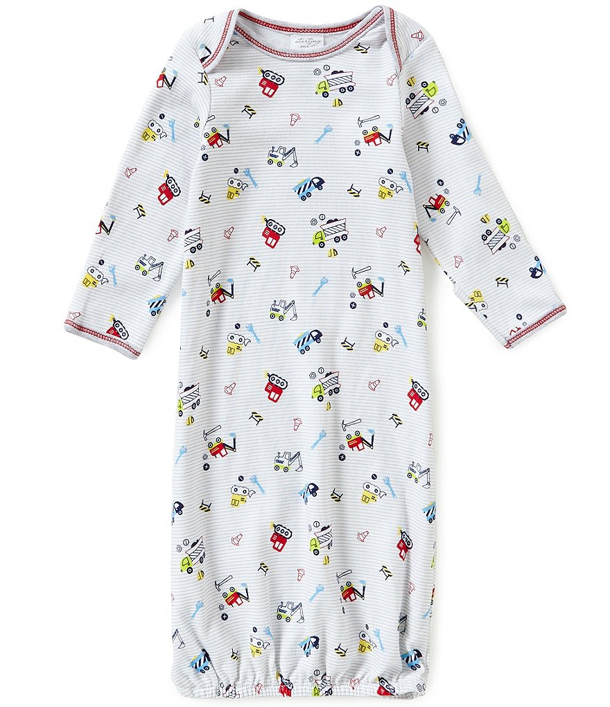 Starting Out Baby Boys Truck Print Gown