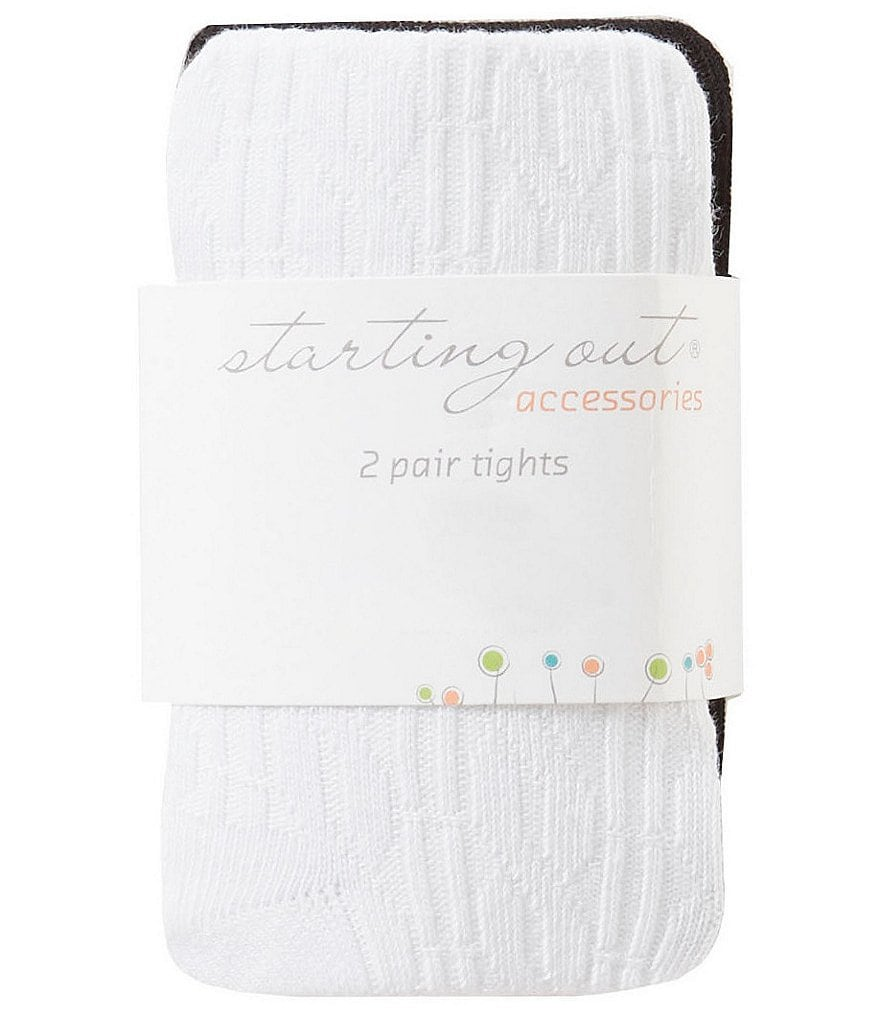 Starting Out Baby Girls 2-Pack Knit Tights