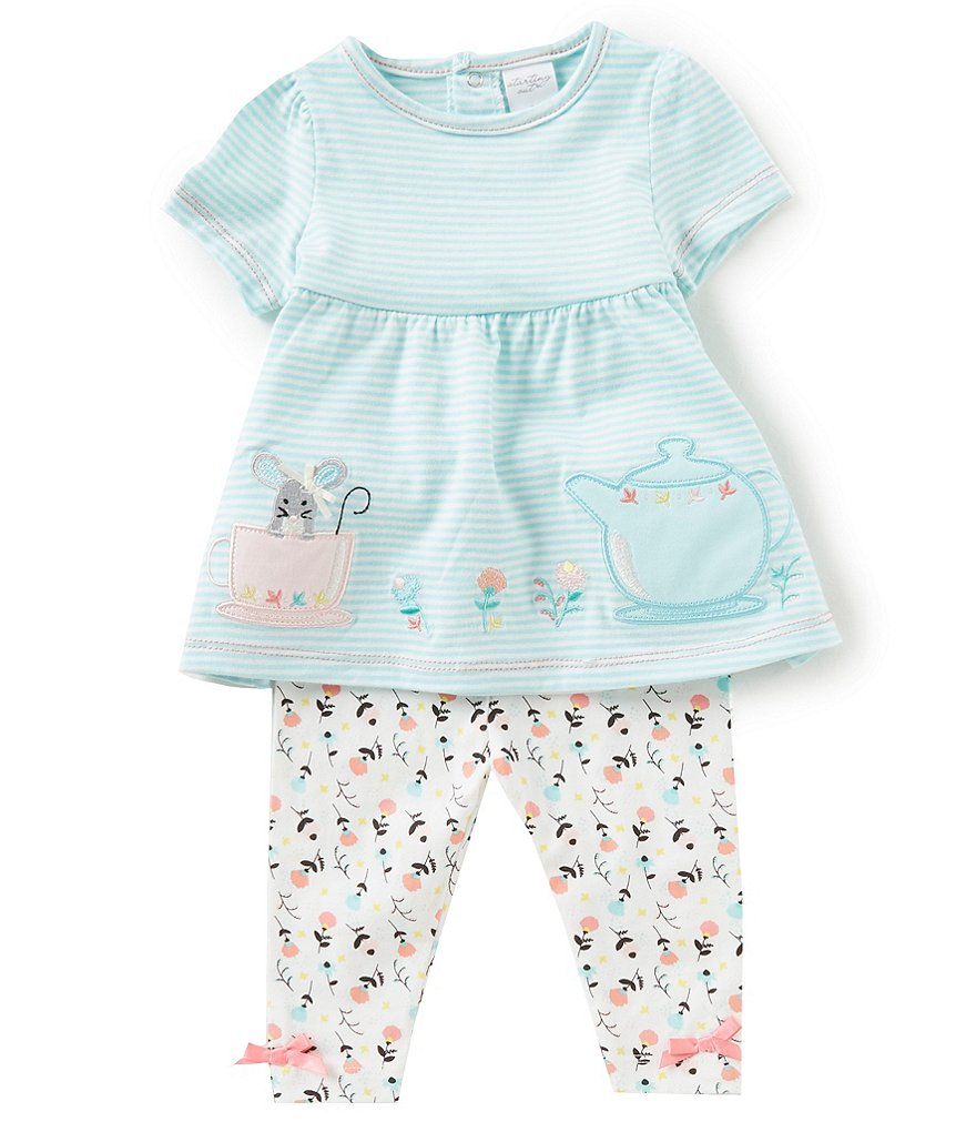 Starting Out Baby Girls 3-24 Months Floral Top & Leggings Set
