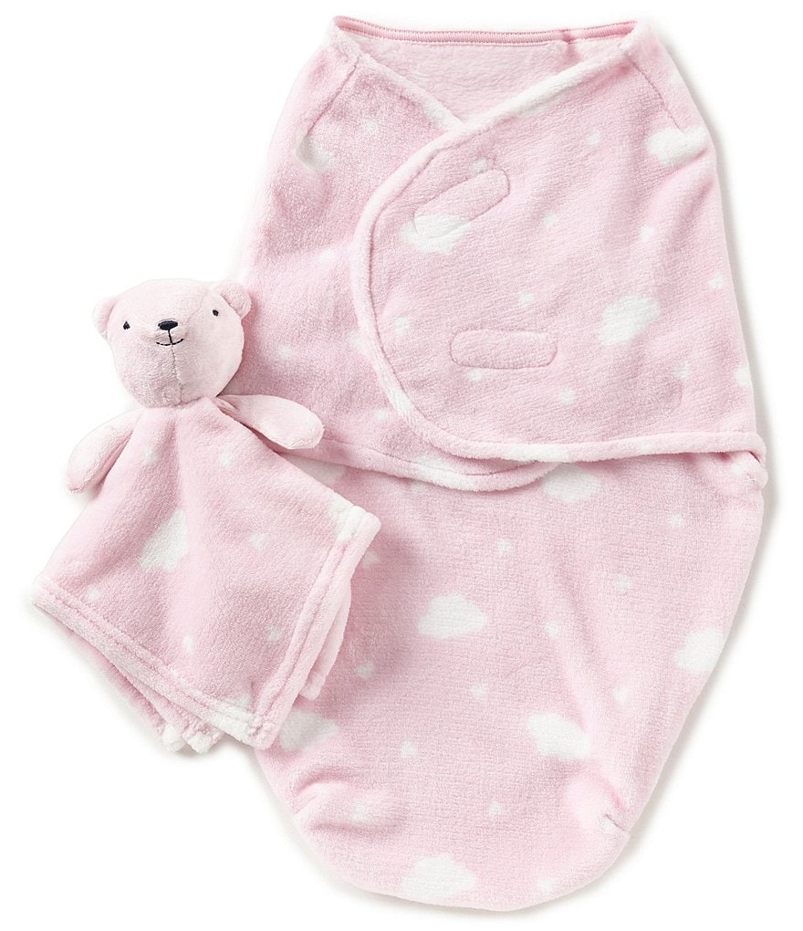 Starting Out Baby Girls Cloud Blanket & Blanket Buddy Set