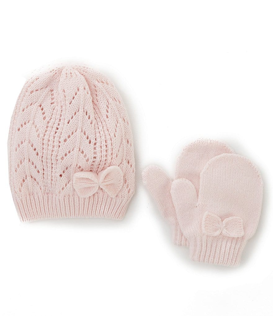 Starting Out Baby Girls Fleece Hat & Mittens Set