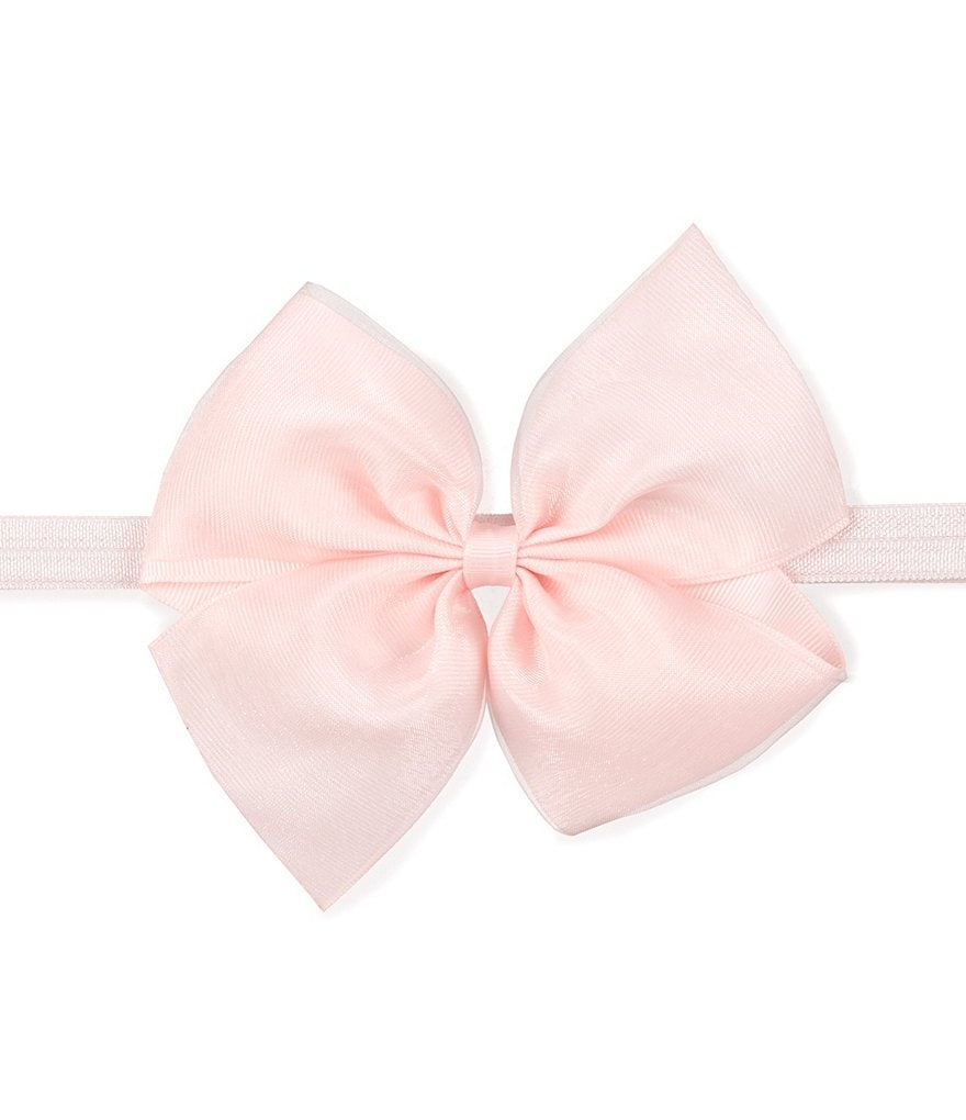 Starting Out Baby Girls Large Organza Bow Headband