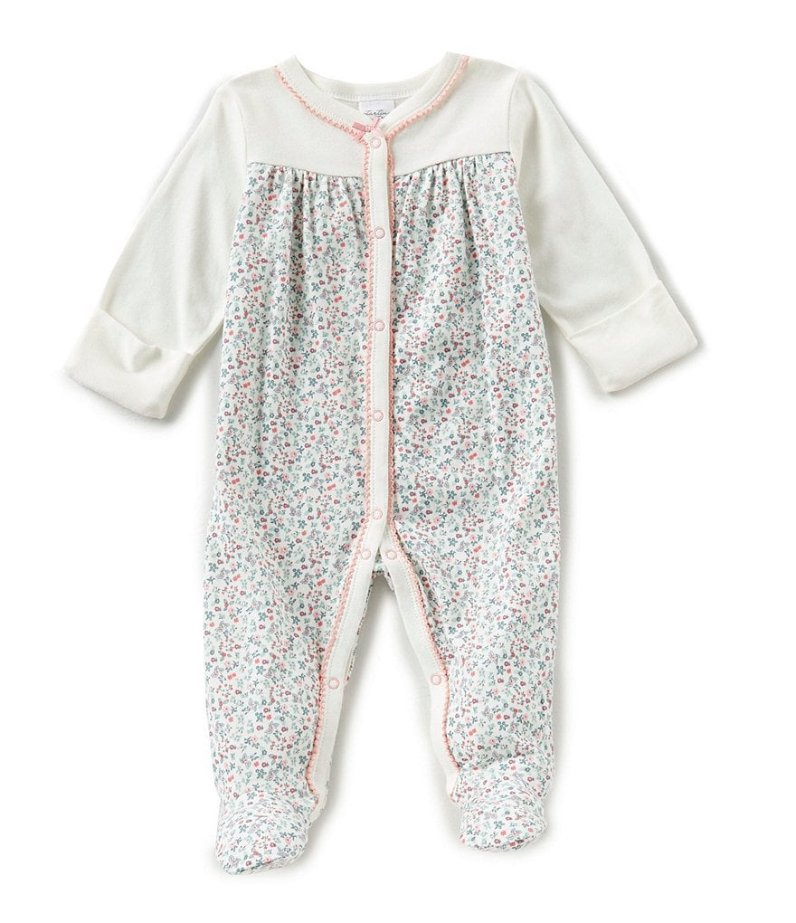 Starting Out Baby Girls Newborn-3 Months Floral Coverall