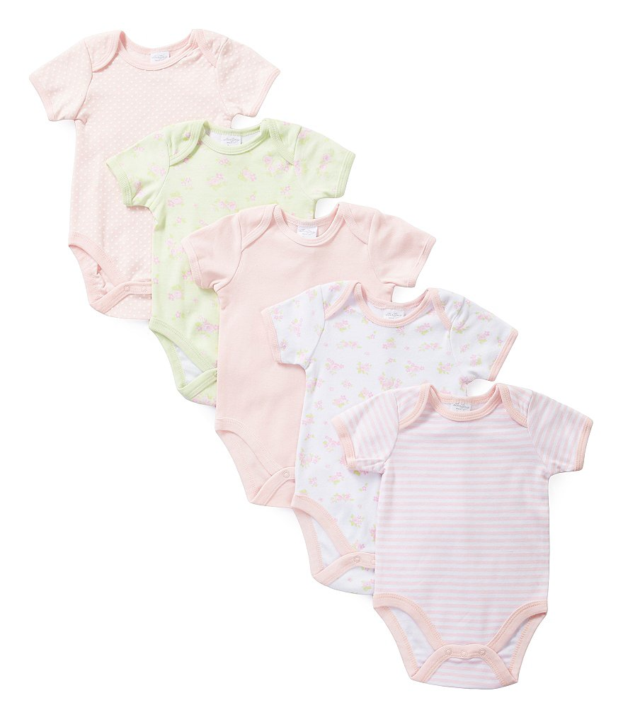 Starting Out Baby Girls Newborn-6 Months 5-Pack Bodysuit