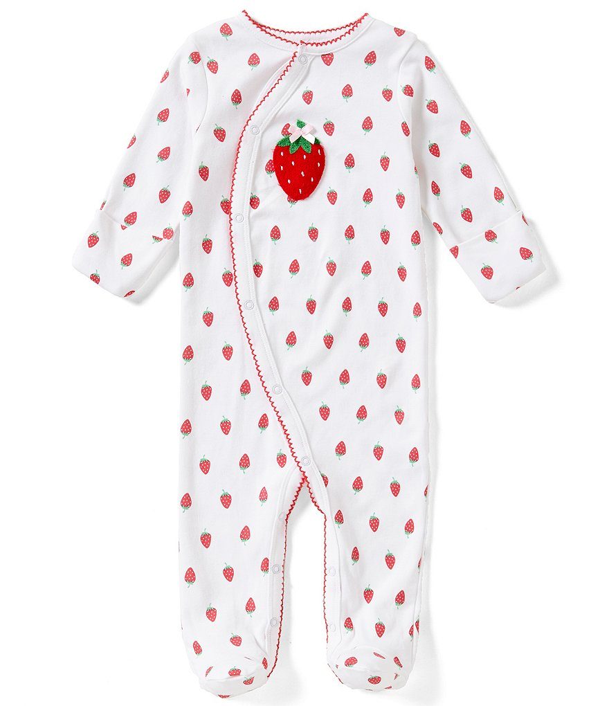 Starting Out Baby Girls Newborn-6 Months Strawberry Footed Coverall