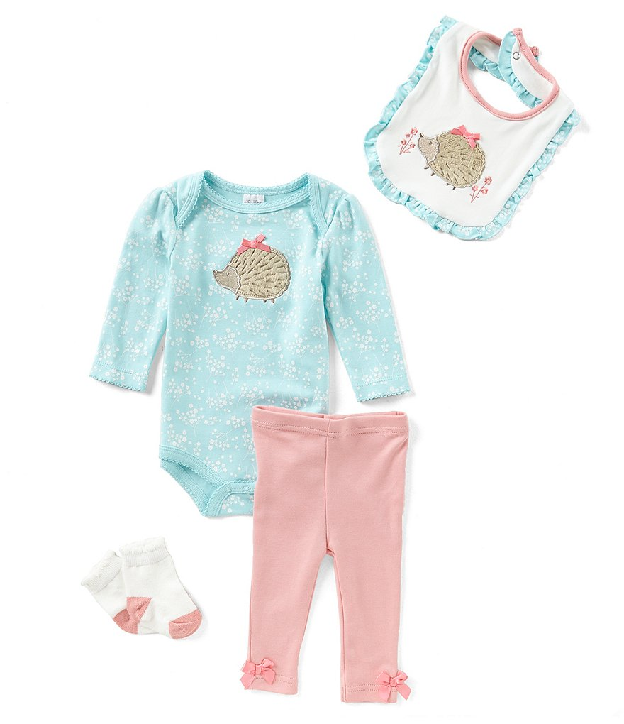 Starting Out Baby Girls Newborn-9 Months Porcupine 4-Piece Layette Set