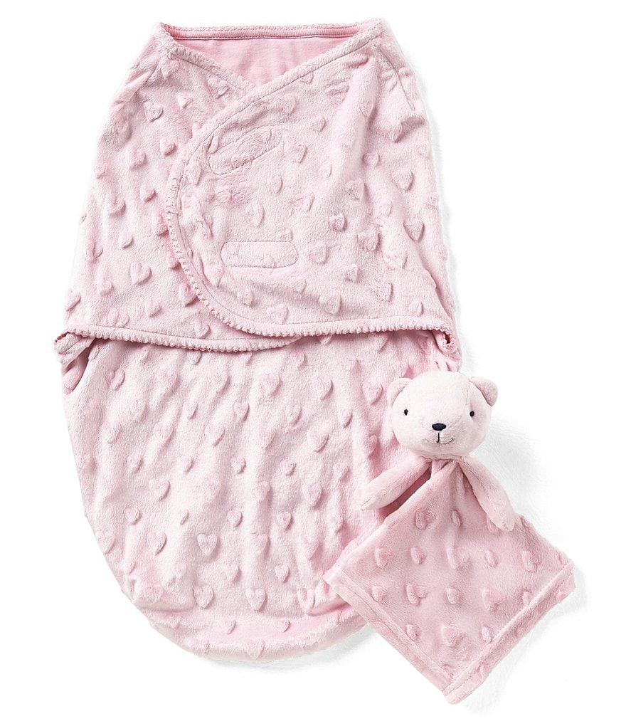 Starting Out Baby Girls Swaddle Blanket & Blanket Buddy Set
