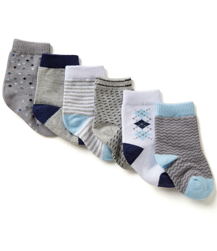Starting Out Boys 6-Pack Crew Socks