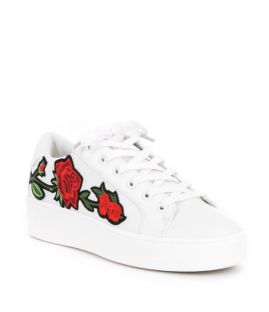 Steve Madden Bertie-p Embroidered Embellishment Sneakers