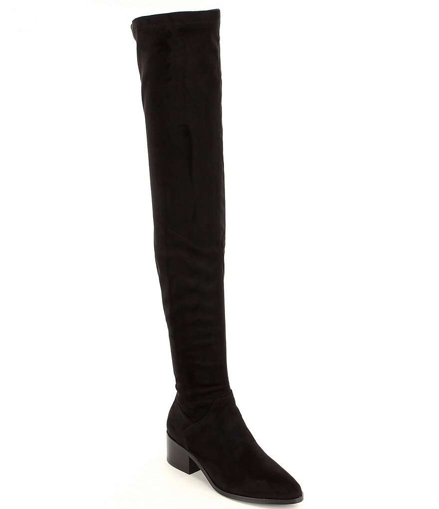 Steve Madden Gabriana Over The Knee Zip Microsuede Boots