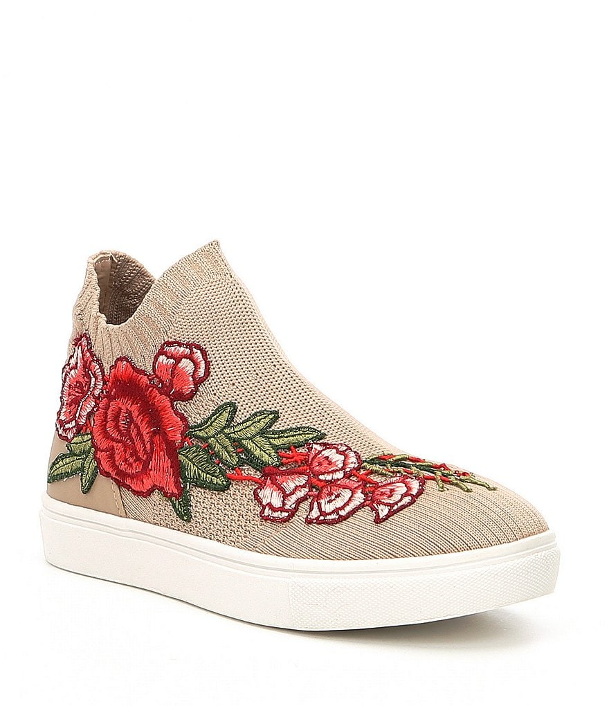 Steve Madden Girls' J-Sly-P Flower Applique Sneakers