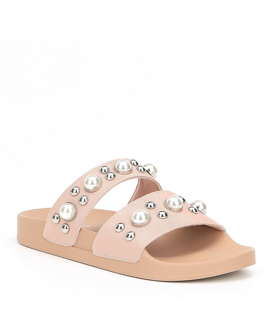Steve Madden Polite Pearl Detail Double Banded Sandals