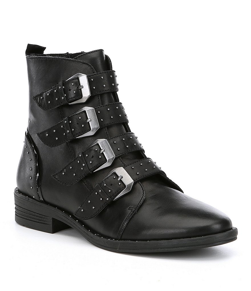 Steve Madden Pursue Leather Studded Booties