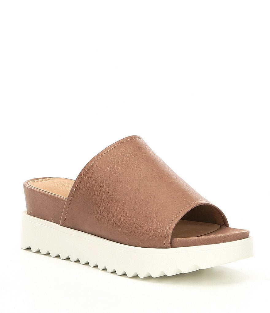 Steven by Steve Madden NC-Kore Leather Wedge Sandals