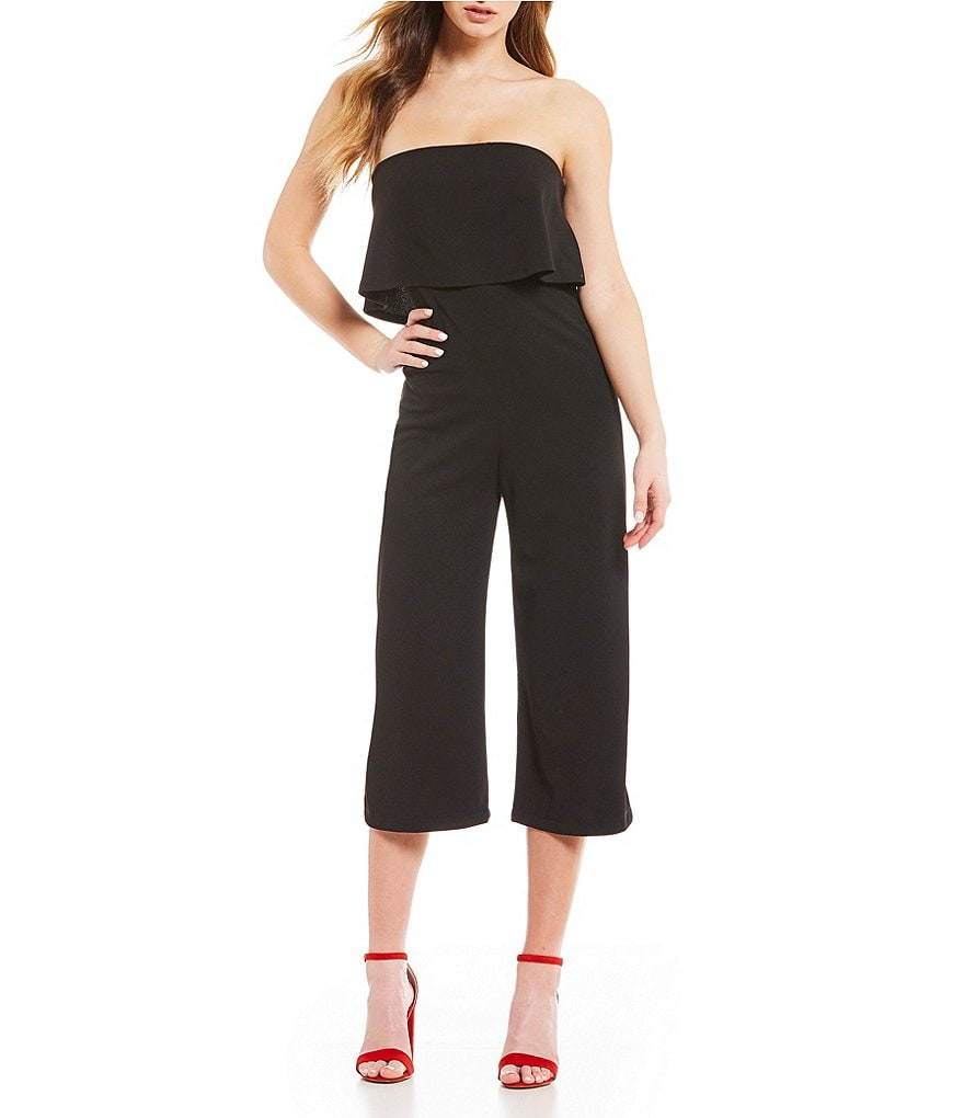 Stilletto's Ruffle Popover Culotte Jumpsuit