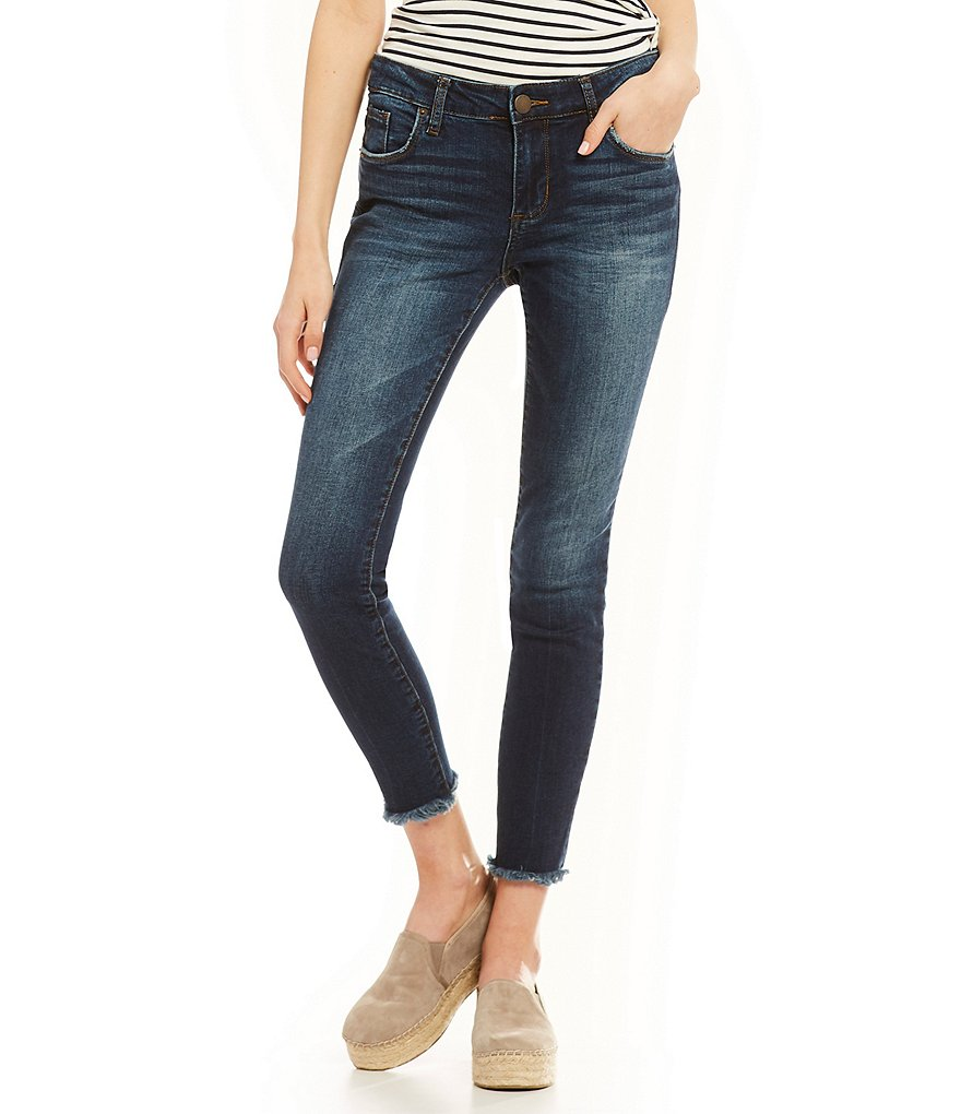 STS Blue Emma Destructed Frayed Hem Ankle Skinny Jeans