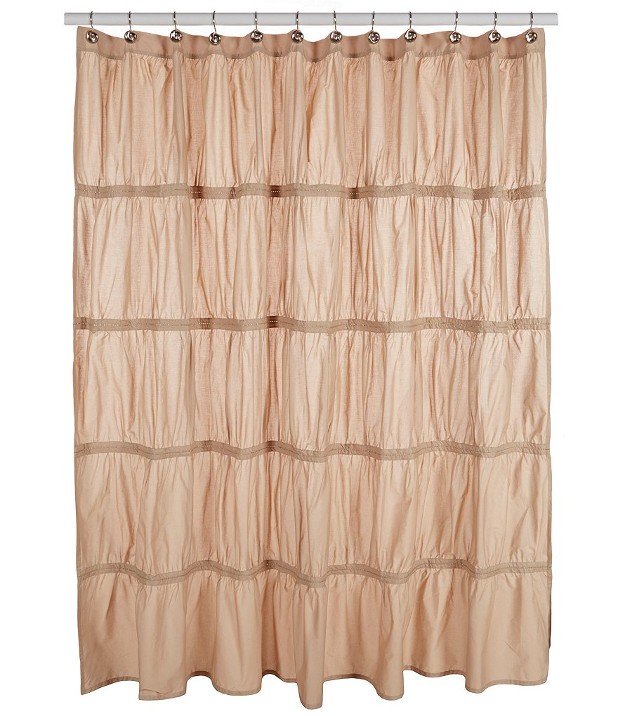 Studio D Allegro Ruched Percale Shower Curtain