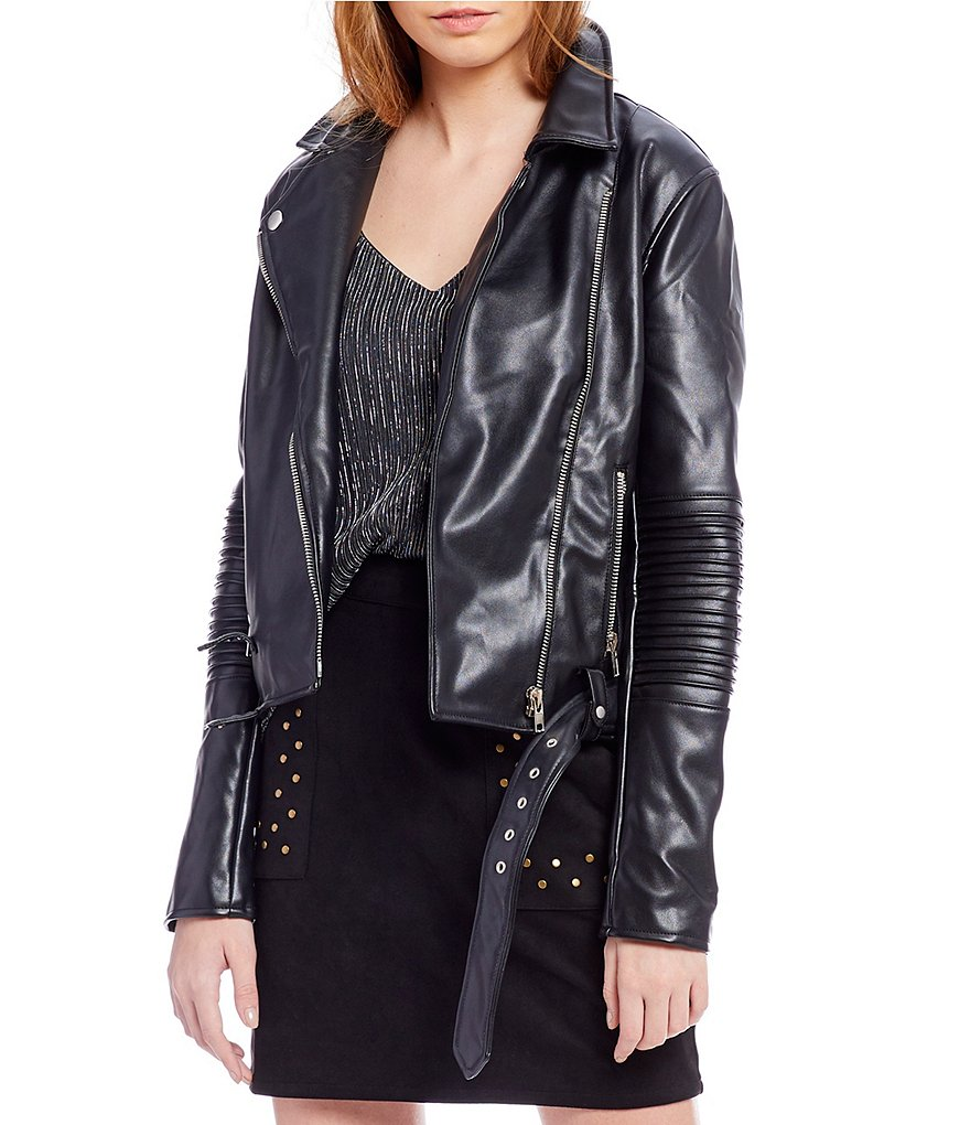 Sugarlips Silvie Faux Leather Moto Jacket