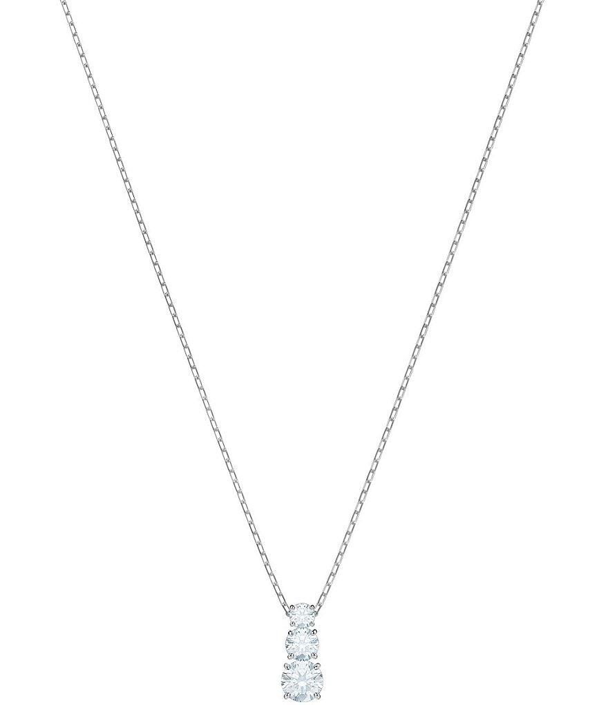 Swarovski attract trilogy round pendant necklace dillards swarovski attract trilogy round pendant necklace aloadofball Choice Image