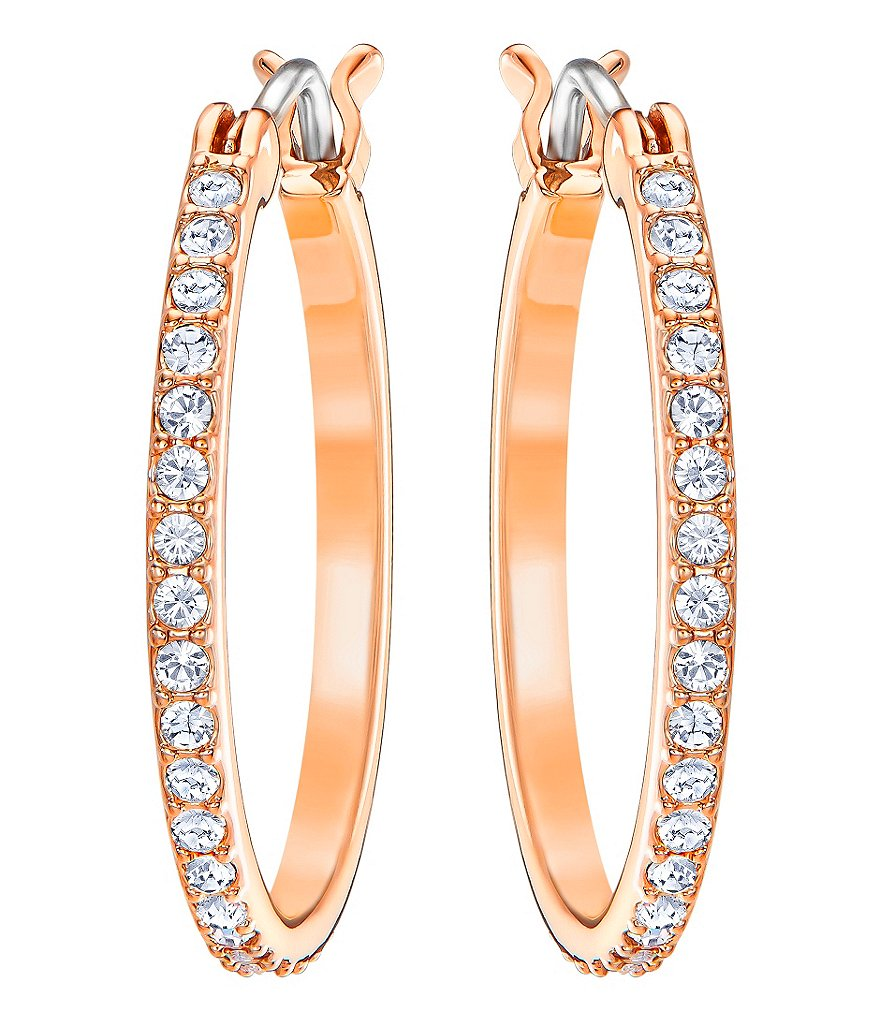 Swarovski Fine Crystal Pavé Hoop Earrings